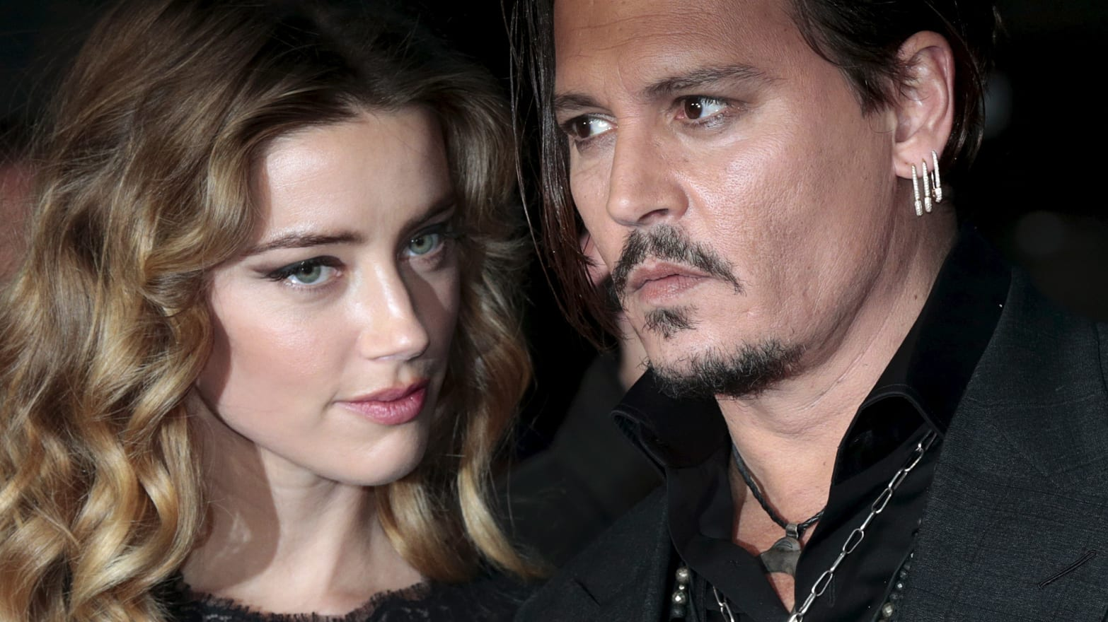 Johnny Depp and his actress wife Amber Heard