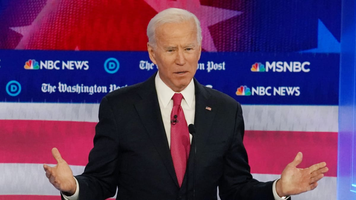 Joe Biden Tells Democrats at Georgia Debate: Cut Out the 'Lock Trump Up' Chants