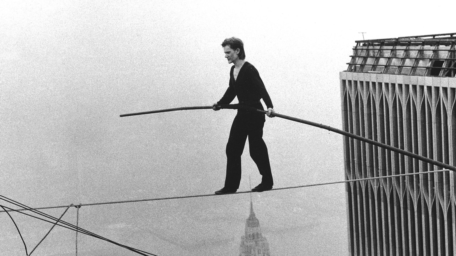 697e7273b8 Philippe Petit s Moment of Concern Walking the WTC Tightrope