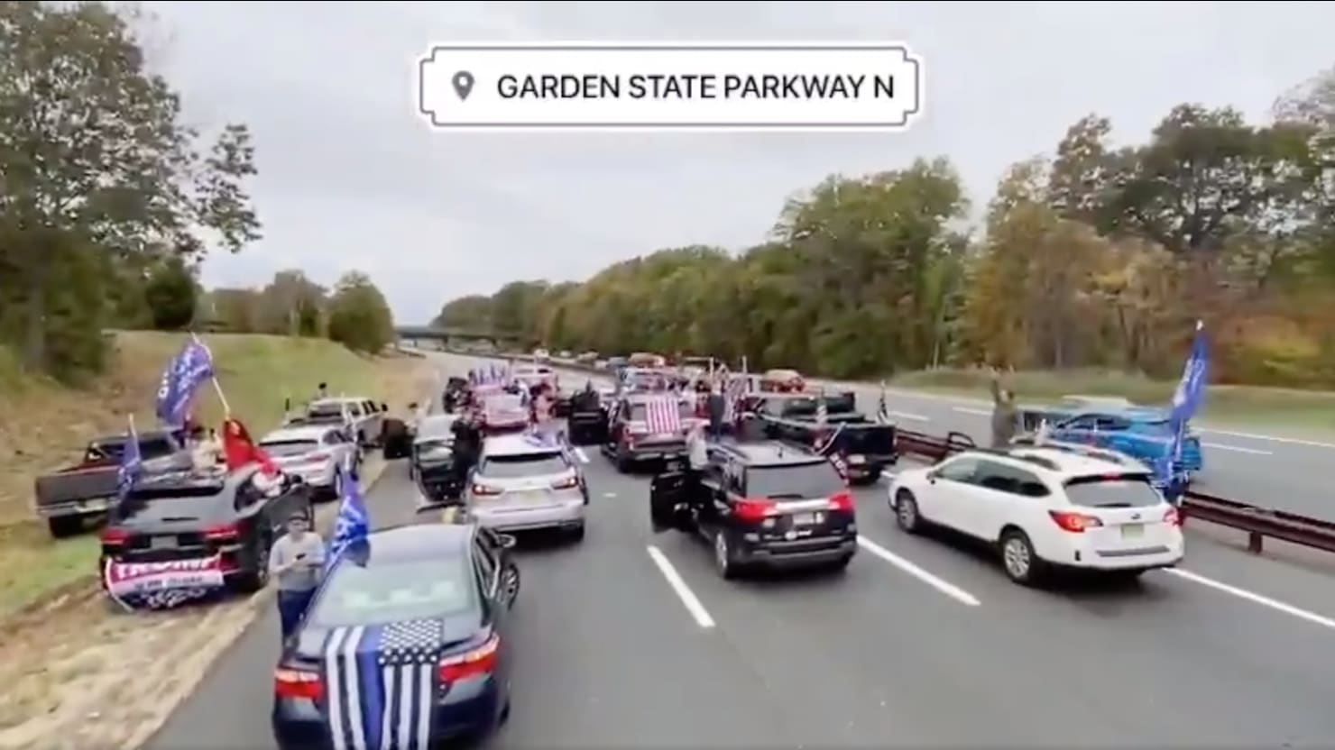 Trump Supporters Spend Weekend Clogging Blue State Highways