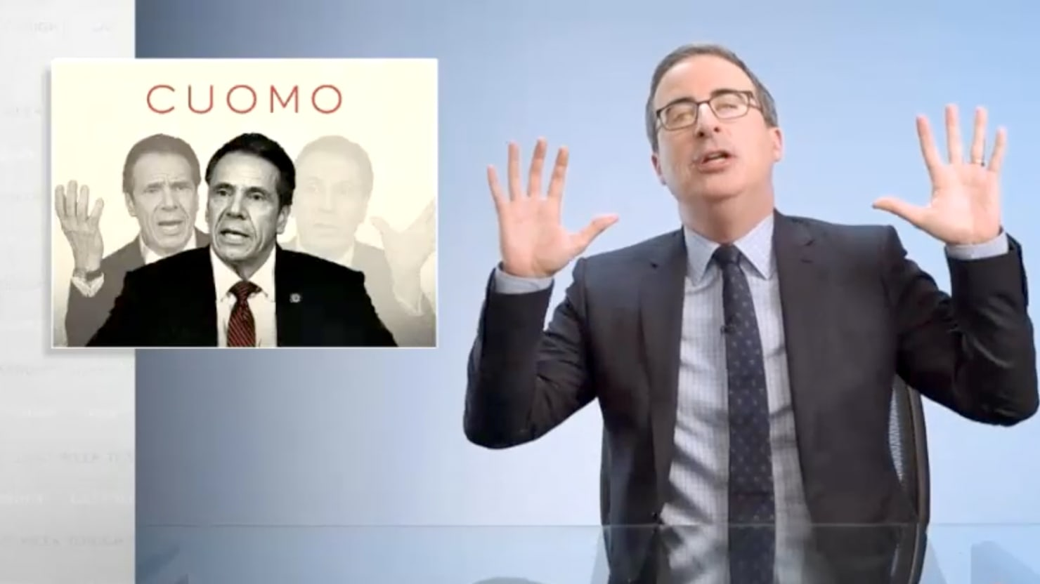 John Oliver Unloads on 'Colossal Asshole' Andrew Cuomo