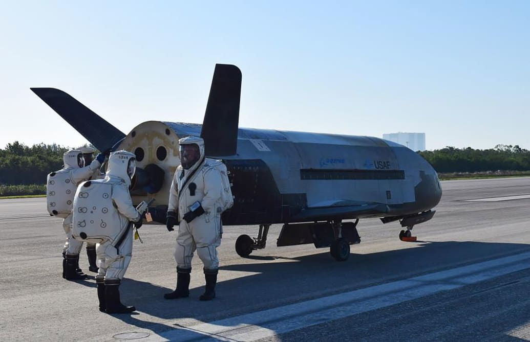 Air Force's X-37B Orbital Test Vehicle mission 4 lands at NASA 's Kennedy Space Center Shuttle Landing Facility