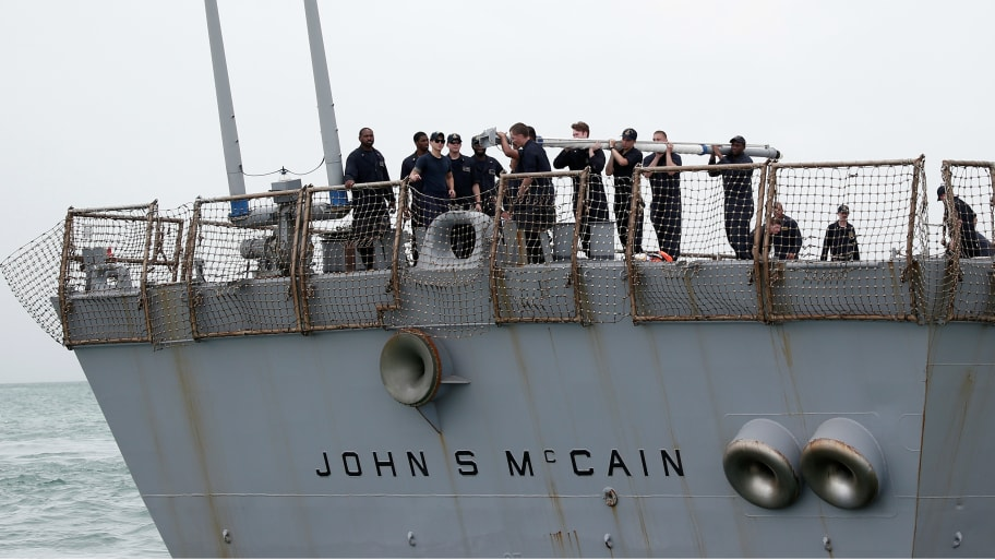 Remains of Navy Sailors Found in USS John McCain Compartment