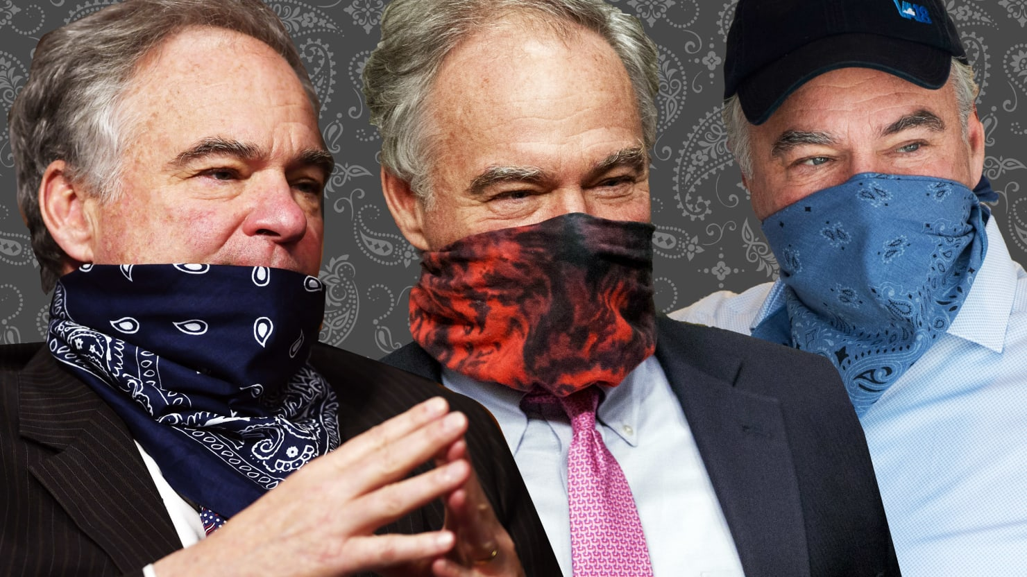 How Tim Kaine, in Face Mask Bandana, Became the Senate's Coolest Cowboy