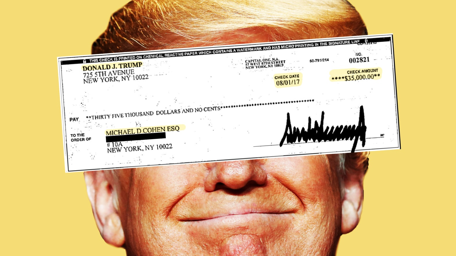 The Day President Trump Signed Michael Cohen's Hush-Money Check