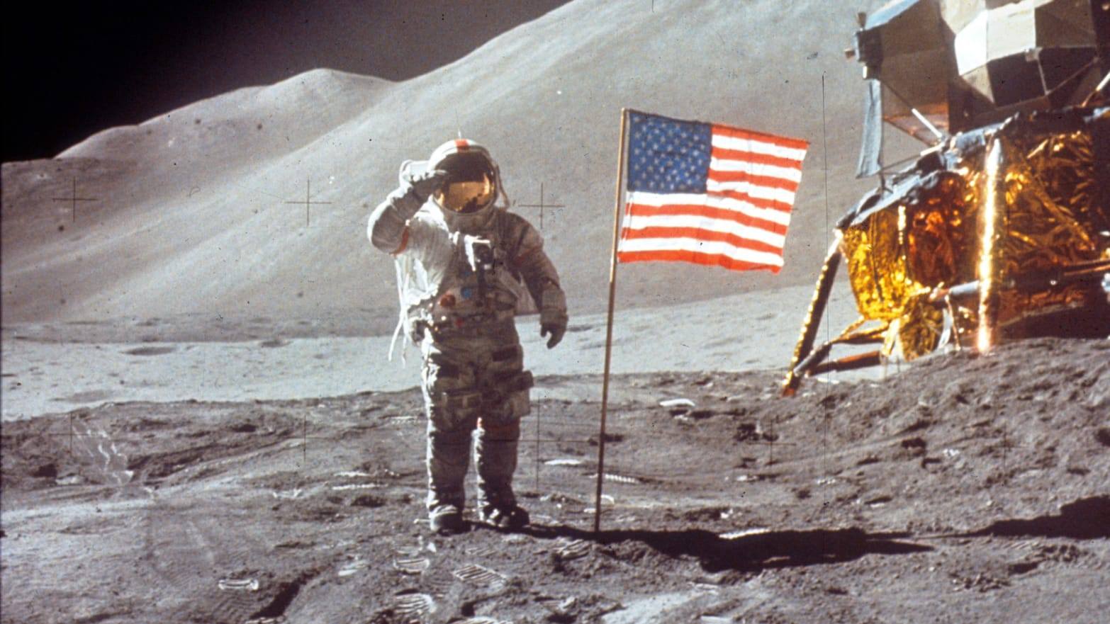 photo of american astronaut on the moon wilbur ross moon landing space force donald trump jim bridenstine china lunar mining russia