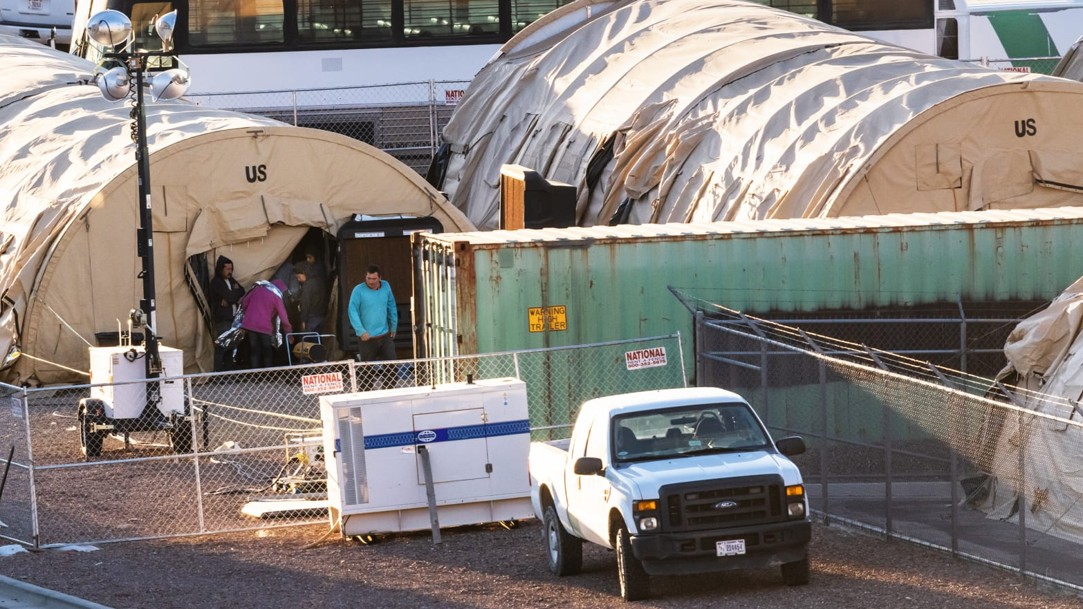 Border Patrol Holds Migrants in El Paso Tent City Away ...