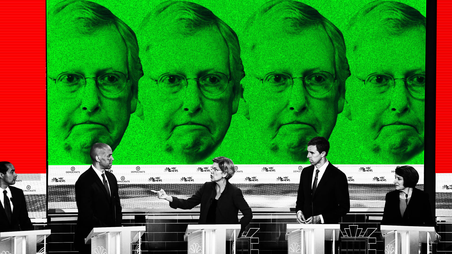 Mitch McConnell Looms Over First Democratic Debate
