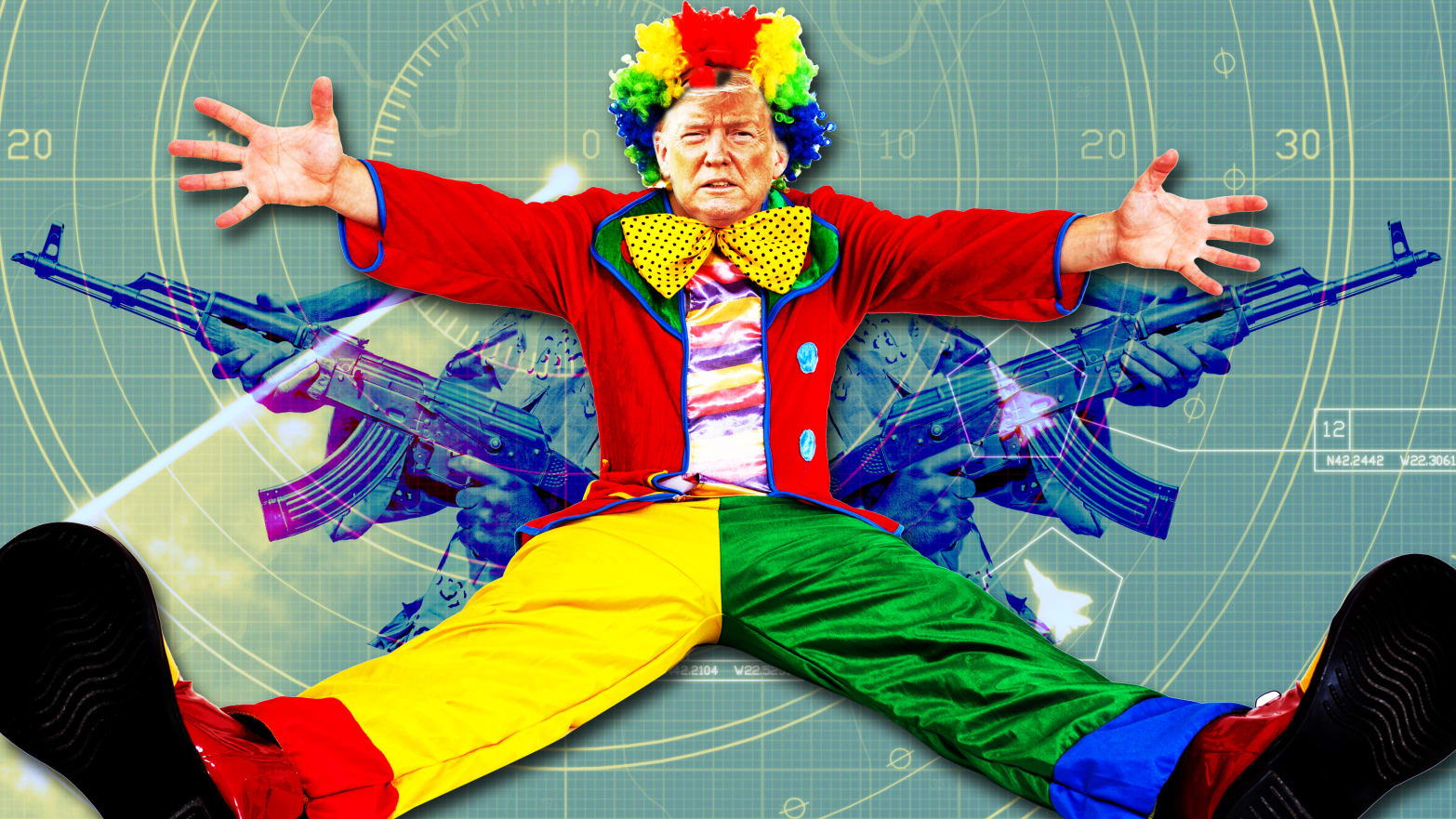 Is This Clown Donald Trump Really Going to Bumble Us Into a Shooting War With Iran?