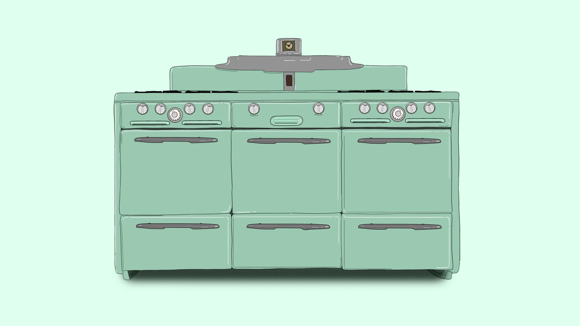 Cooking on the Cadillac of Vintage Stoves: the Roper Town & Country