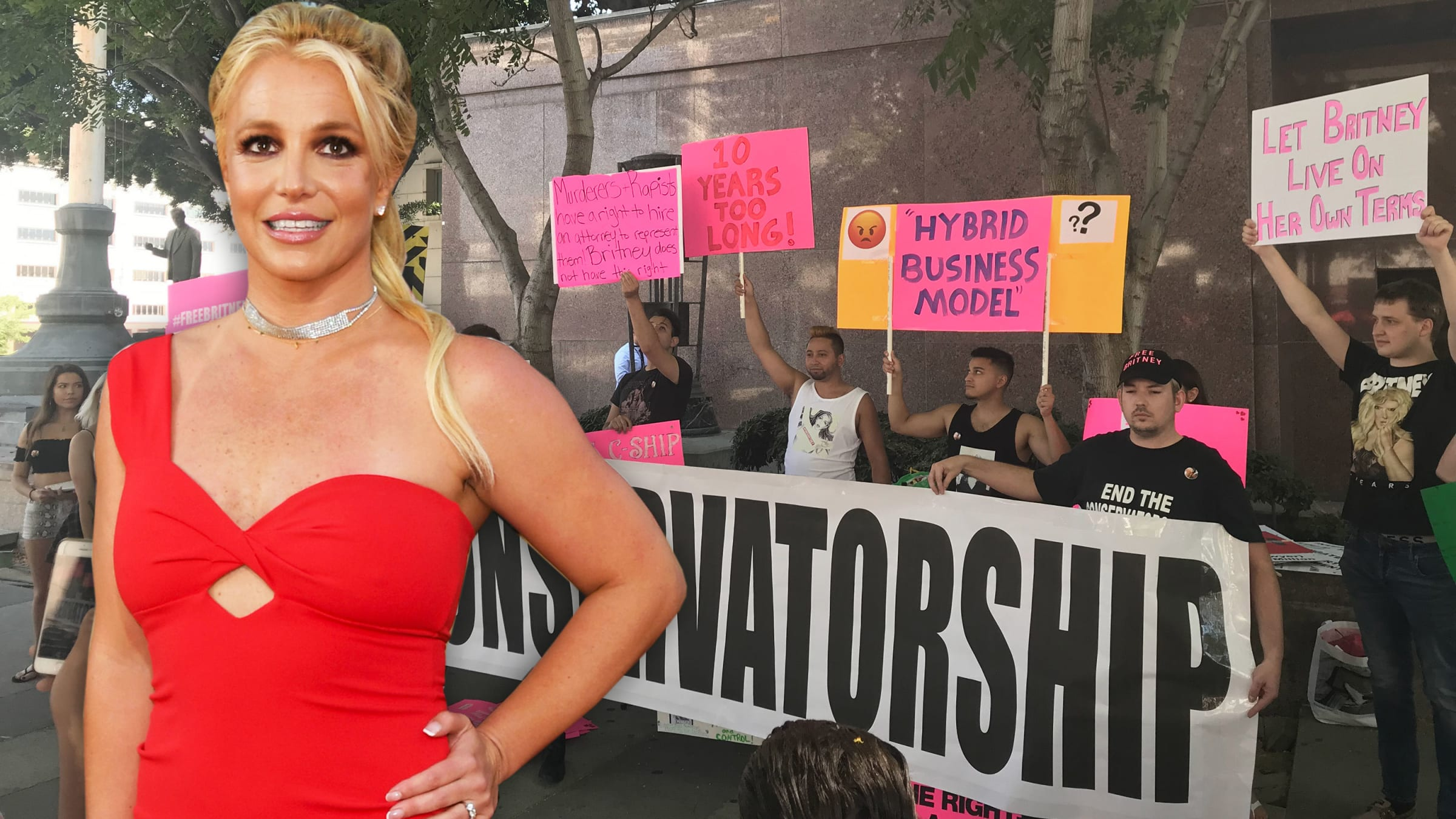 #FreeBritney Movement to Free Britney Spears From Conservatorship Invades Los Angeles During Court Hearing