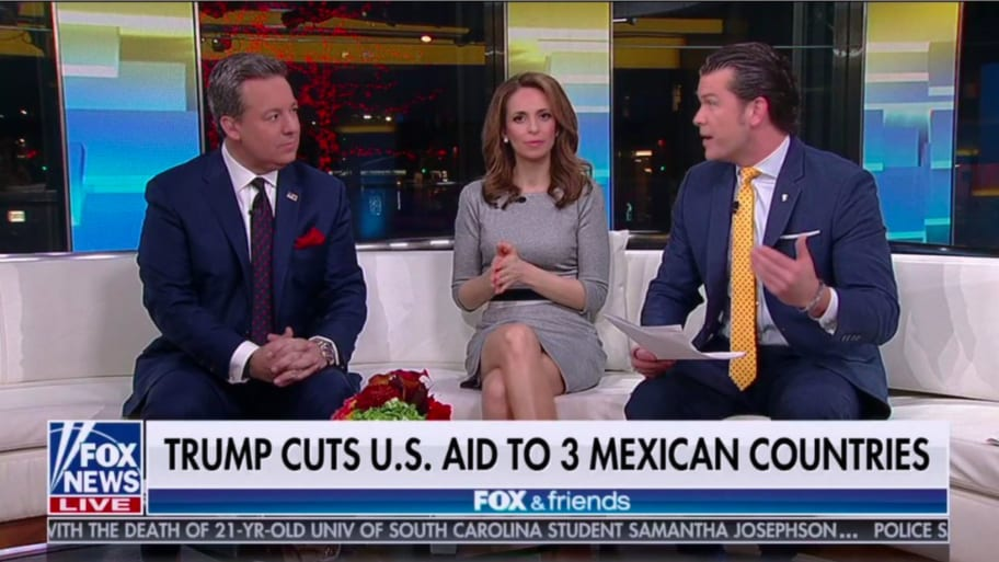 Fox refers to El Salvador, Guatemala and Honduras as Mexican countries