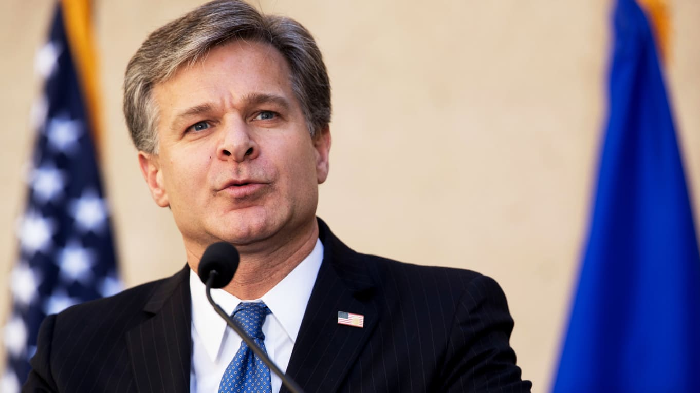 Christopher Wray warns of Russian interference in 2020 election