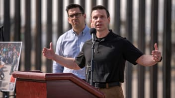 "Kevin McAleenan, the commissioner of U.S. Customs and Border Protection holds a press conference just down the road from a makeshift detention center in El Paso, Texas on Wed. March 27, 2019. Border Patrol in El Paso is saying that they are overwhelmed with unprecedented number of migrants at over 12,000 currently in custody. Kevin McAleenan, the commissioner of U.S. Customs and Border Protection is calling the situation at the El Paso border a ""crisis"" and asking for Congressional assistance."