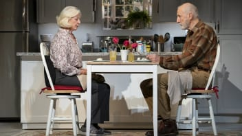 "Jane Alexander as Nancy and James Cromwell as Bill in ""Grand Horizons."""
