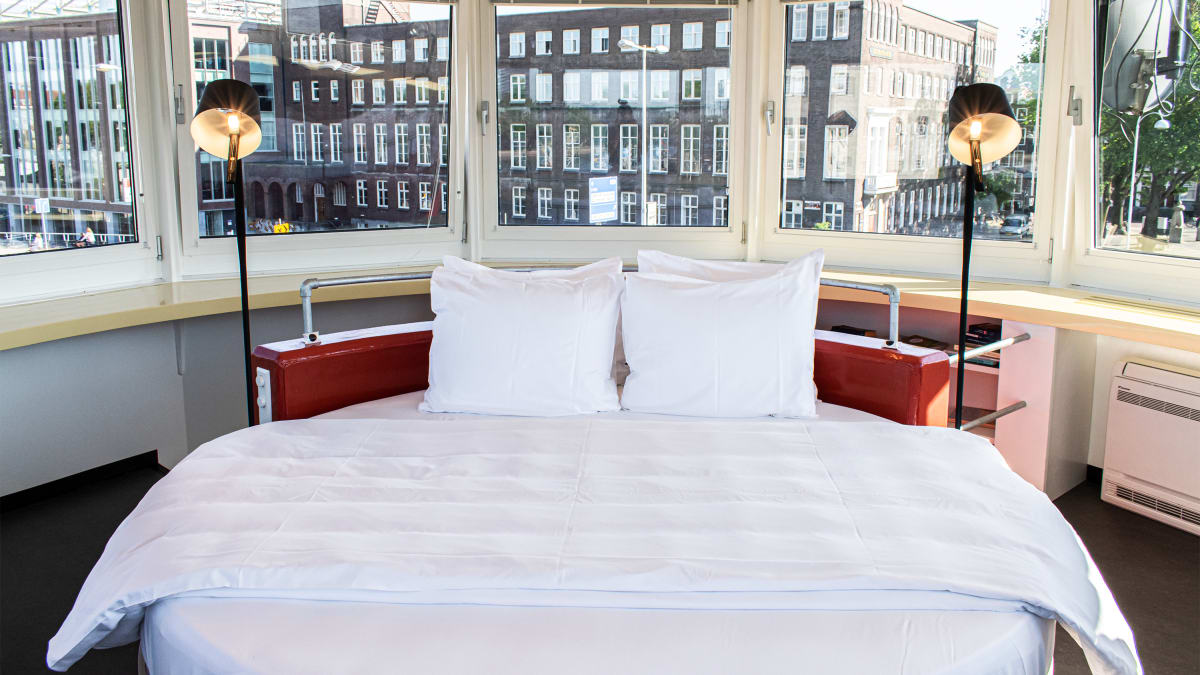 These Amsterdam Hotel Rooms Put You Right on the Water