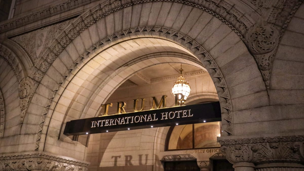 President Trump Is in the Private Hospitality Business, and Business Is Booming in D.C.