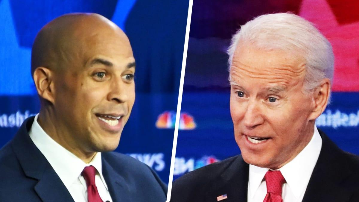 Cory Booker Questions Joe Biden's Stance on Marijuana at the Georgia Democratic Debate: Are You High?