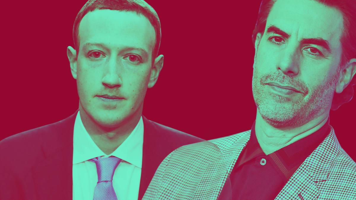 Sacha Baron Cohen Uses ADL Speech to Tear Apart Mark Zuckerberg and Facebook