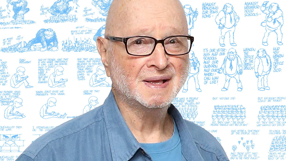 Legendary Cartoonist Jules Feiffer Skewered Nixon and Now He's Savaging Trump