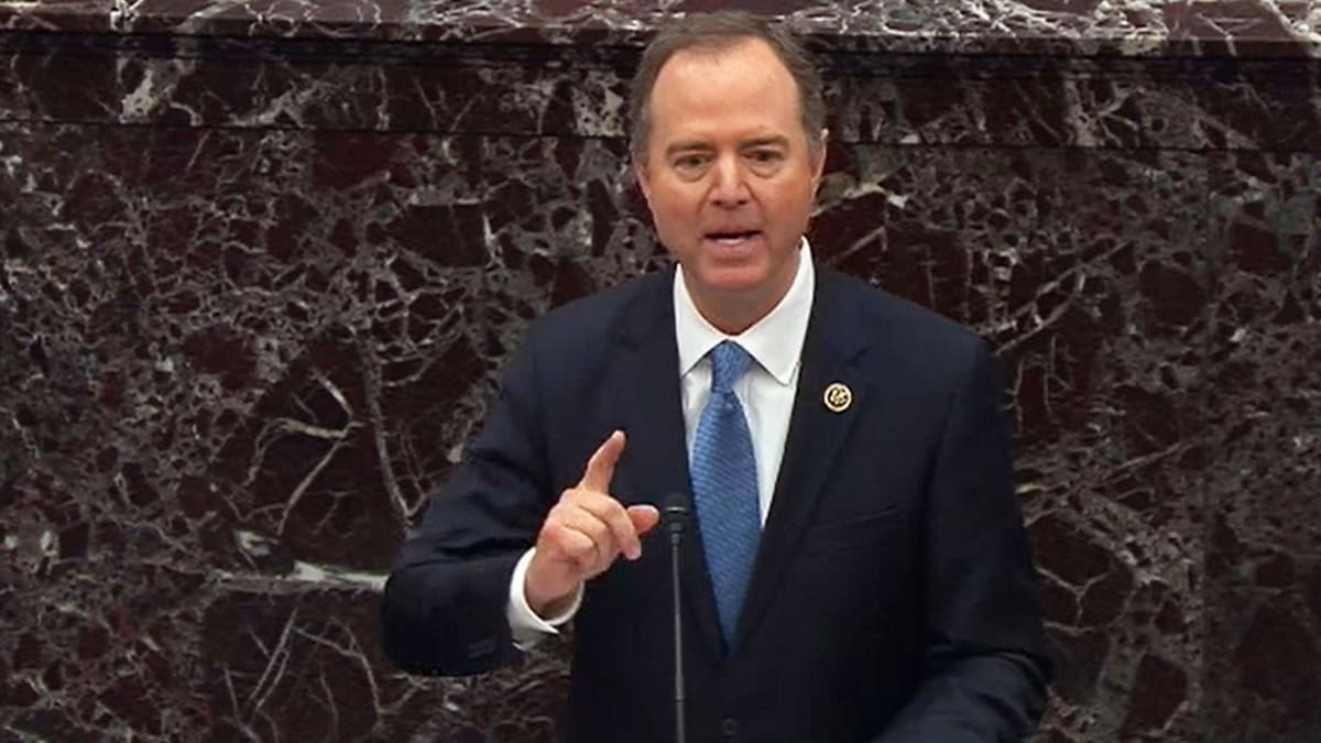 Adam Schiff Stands Up and Speaks the Truth at Mitch McConnell's Upside-Down Stalinist Show Trial