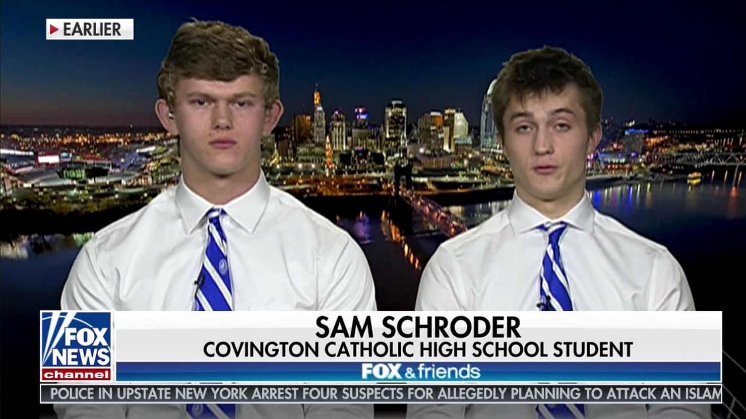 Covington Catholic Teen on 'Fox & Friends': Blackface Is 'School Spirit'