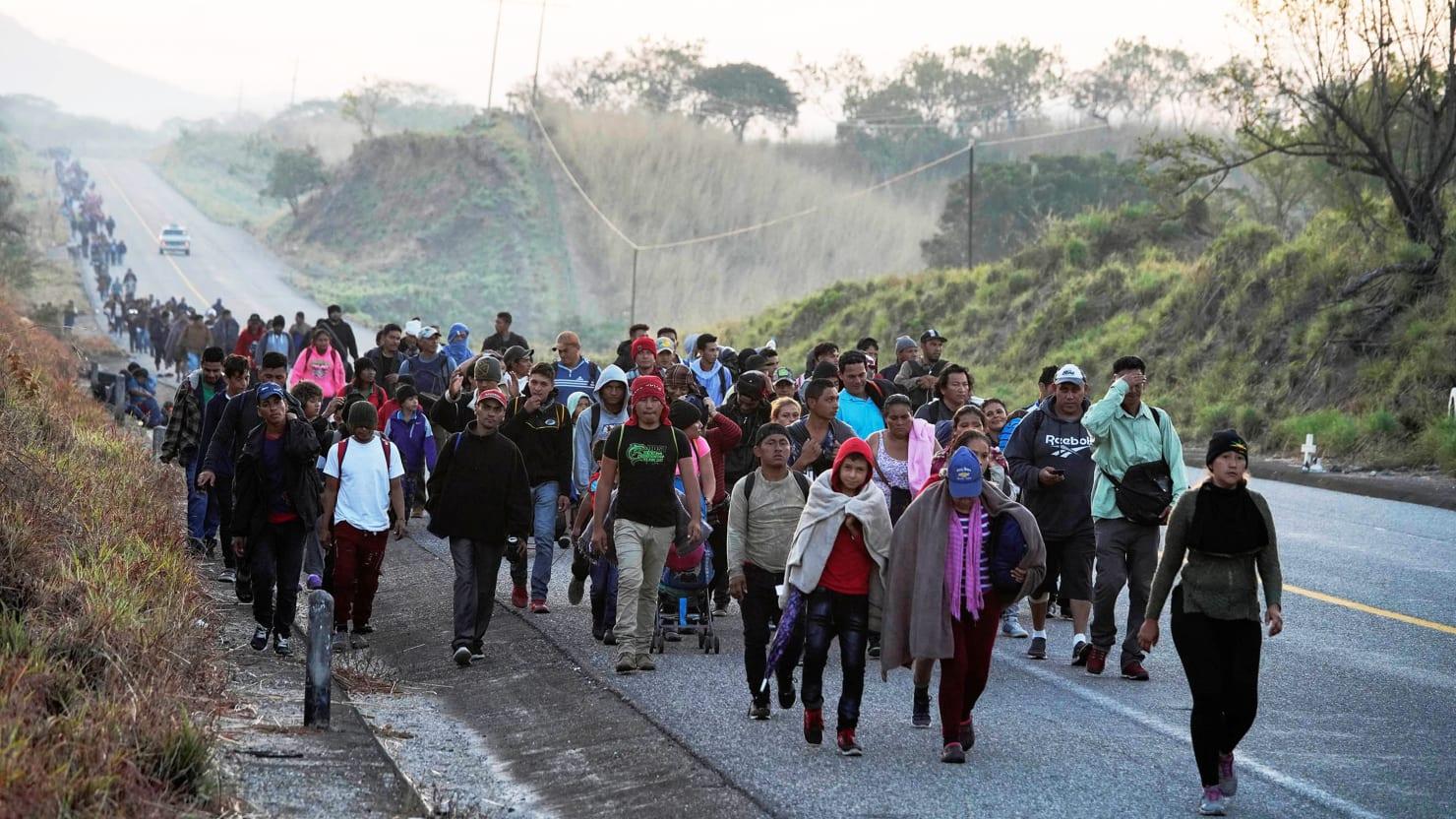Image result for migrant caravan