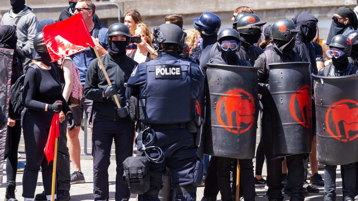 Antifa Portland Police Protect White Supremacy By