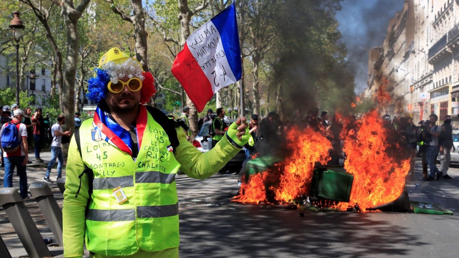 Paris Yellow Vests Protest Notre Dame Fire Donations