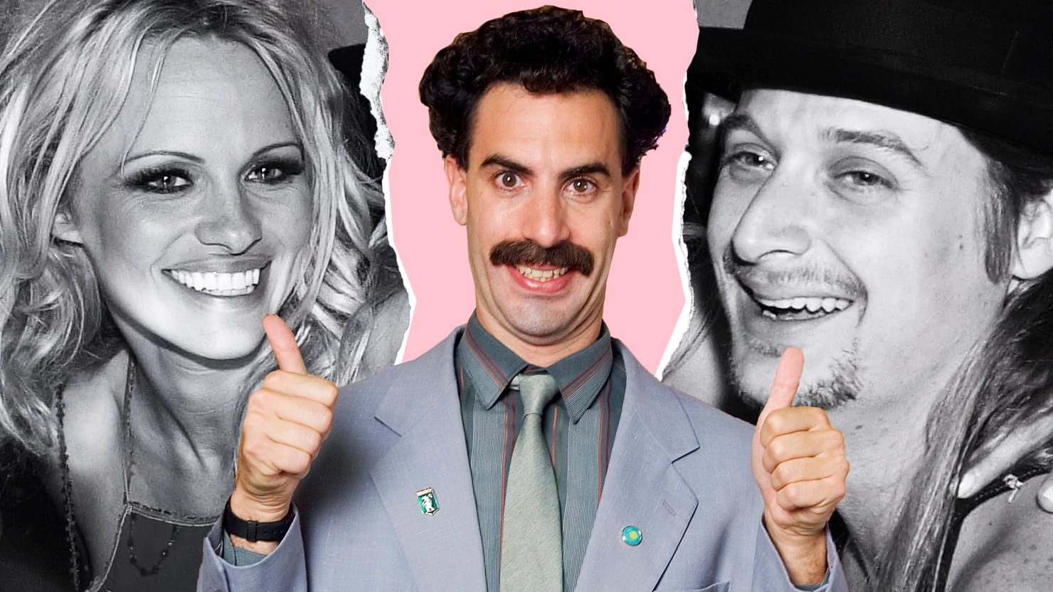 Sacha Baron Cohen Confirms 'Borat' Broke Up Pamela Anderson and Kid Rock