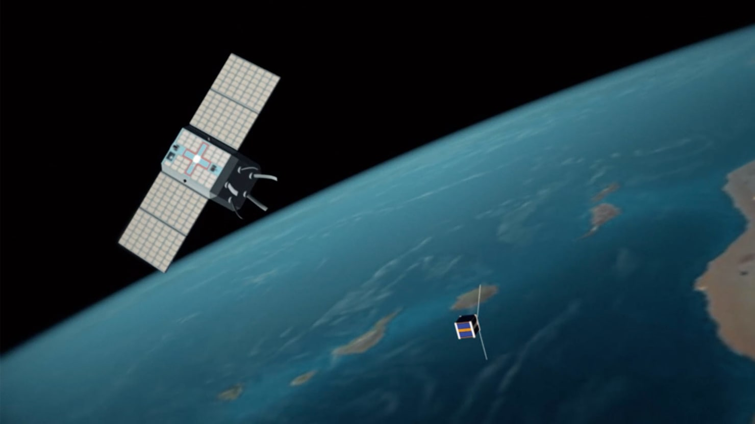 It's the First Orbiting Garbage Collector—or a New Kind of Space Weapon