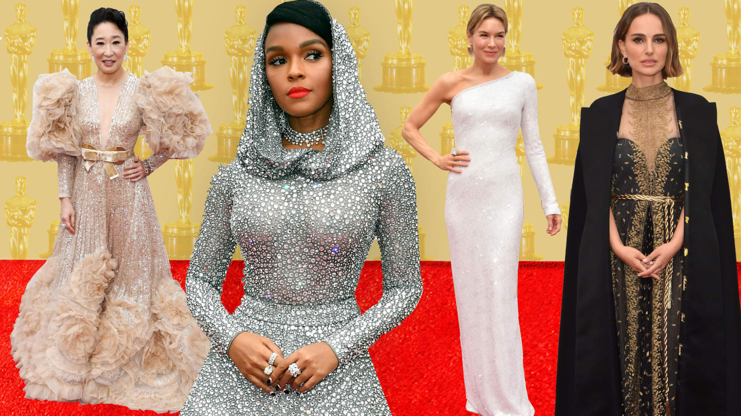 The Oscars Red Carpet Served Up Glamor—and So Much Drama