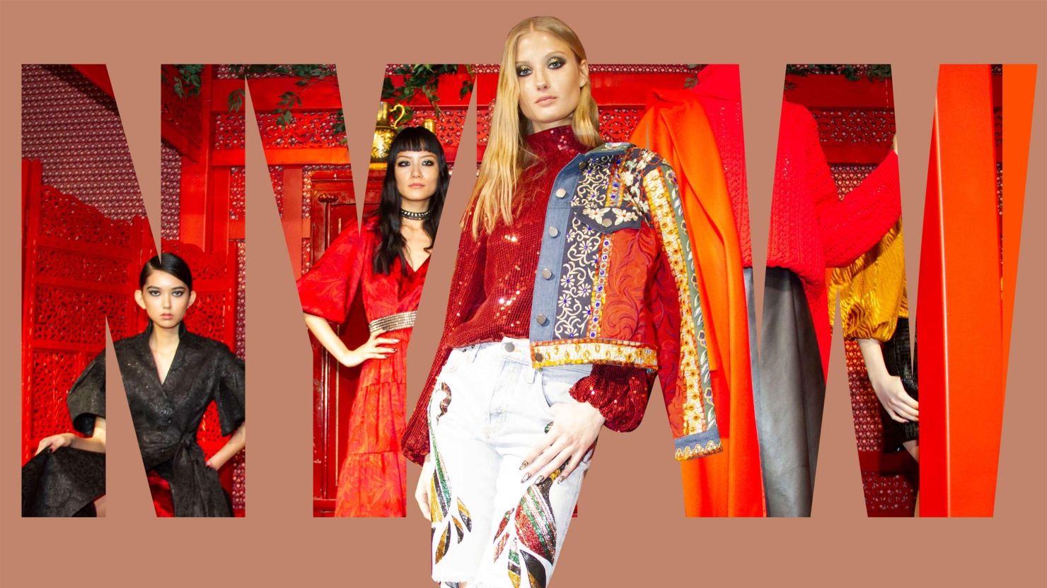 At New York Fashion Week, Alice + Olivia, Hervé Léger, Anna Sui, and Veronica Beard Glam Up a Rainy Day