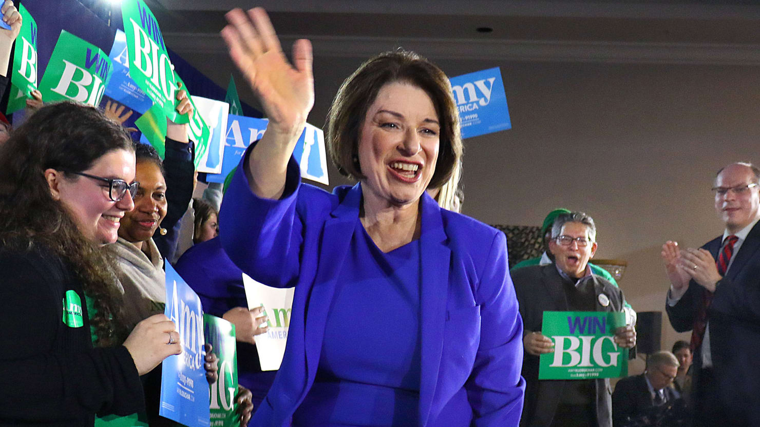 Klobuchar Stakes Her Claim as New Hampshire's New Comeback Kid