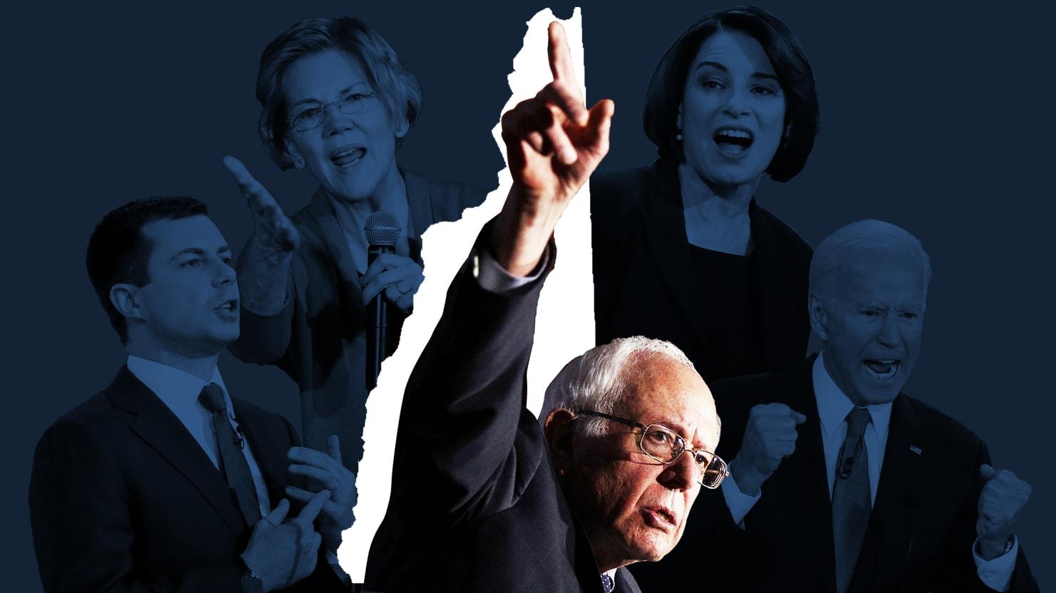 Bernie Sanders Takes N.H., Can't Shake Pete Buttigieg and Amy Klobuchar
