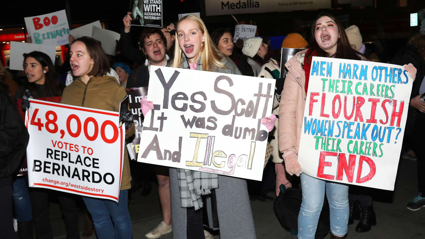 'West Side Story' Mess Continues as Dozens Protest Opening Night