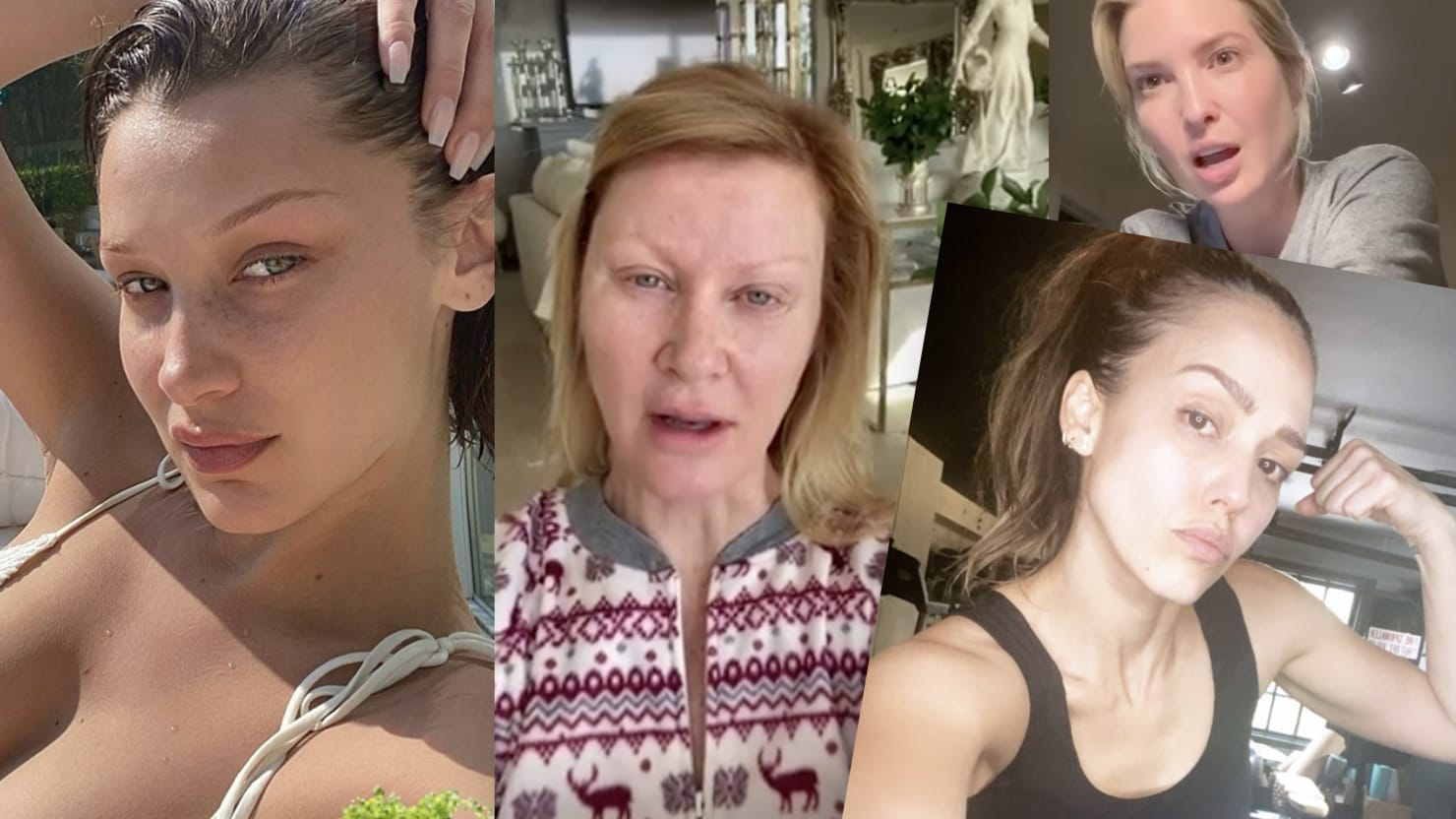 Makeup-Free Celebrities Want to Prove They're Just Like Us. They're Not.