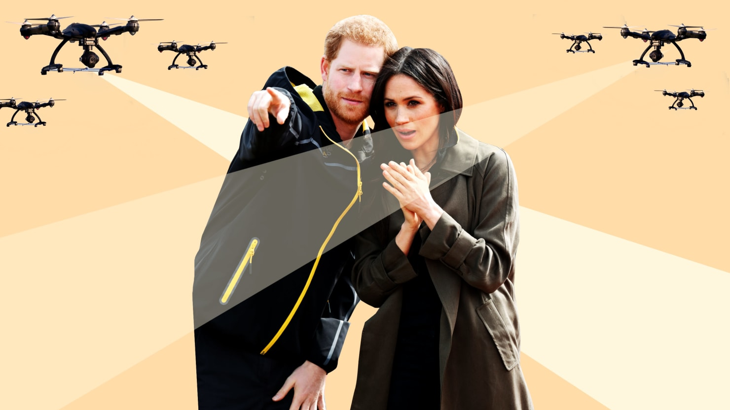 Prince Harry and Meghan Markle Report Multiple Drone Flybys to LAPD, Will Now Pay for Own Security
