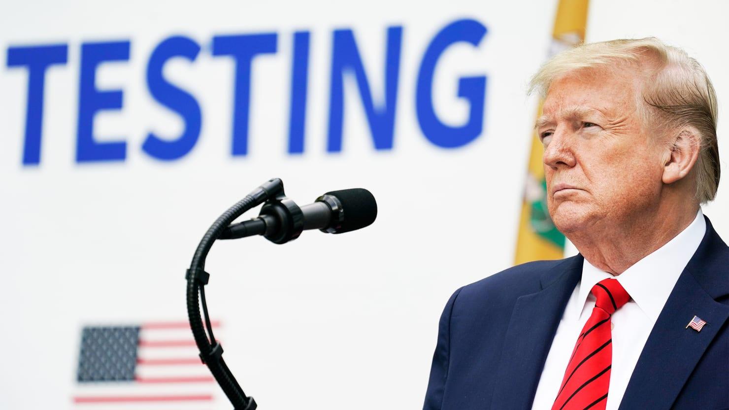 Team Trump Says It Was a COVID Testing...