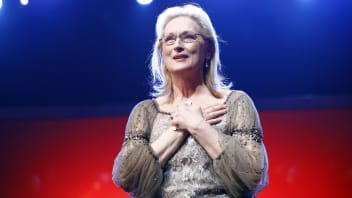 """Meryl Streep receives the Golden Honorary Bear award for  Lifetime Achievement on stage prior to """"The Iron Lady"""" screening at the 62nd Berlin International Film Festival at the Berlinale Palace on February 14, 2012 in Berlin, Germany."""