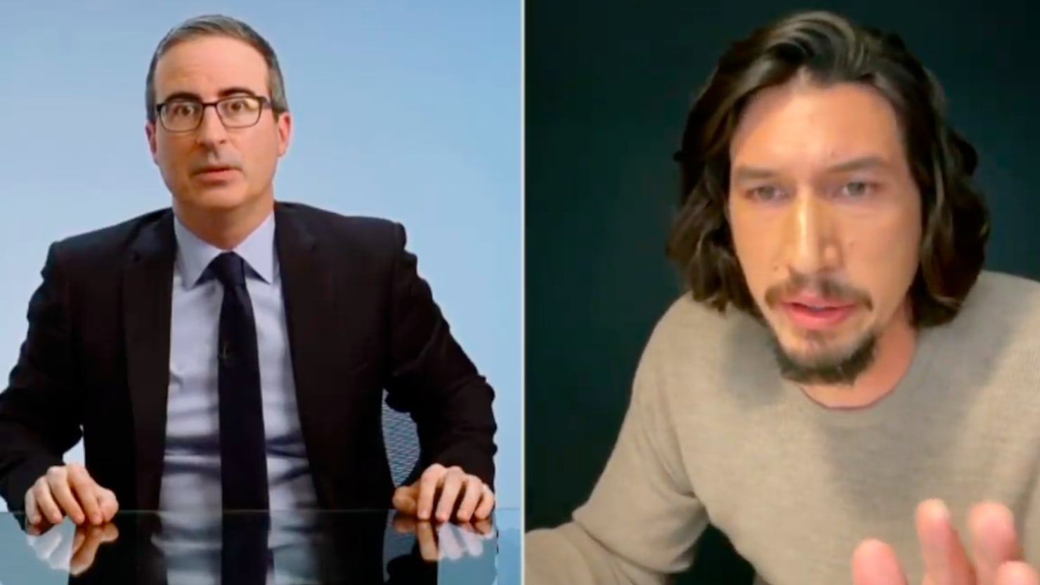 Adam Driver Angrily Confronts John Oliver Over His Sexual Come-Ons