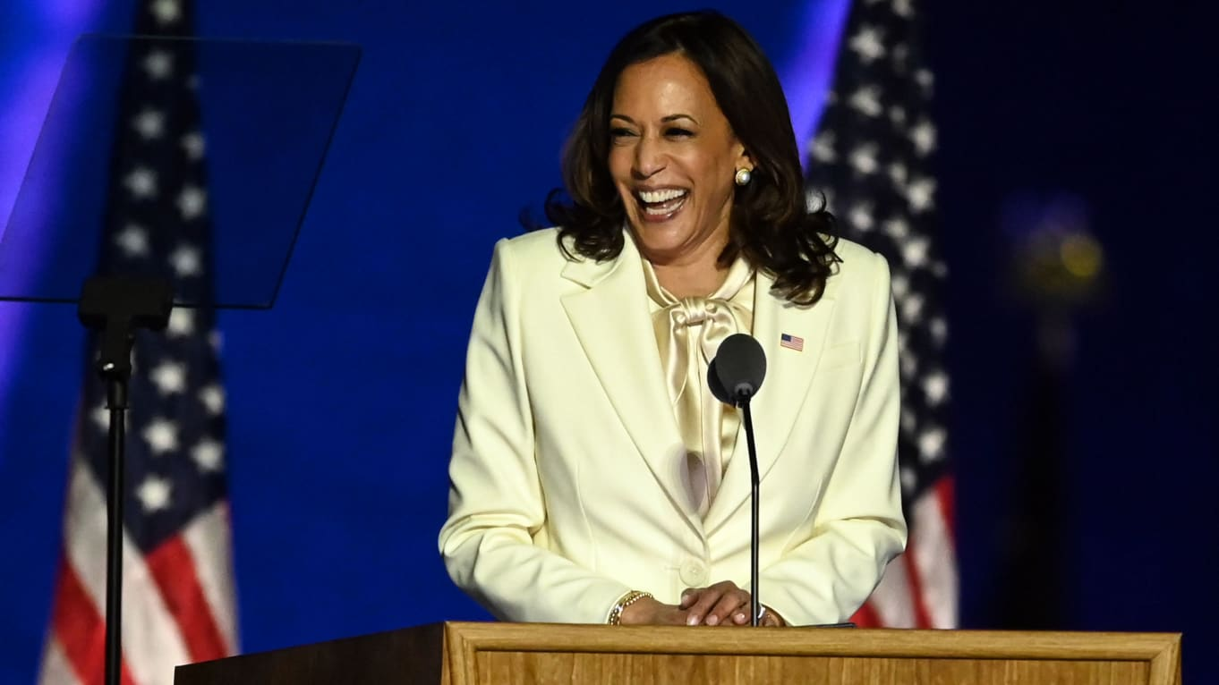 Kamala Harris, First Woman Elected Vice President, Addresses the Nation: 'I May Be the First, I Won't Be Last'