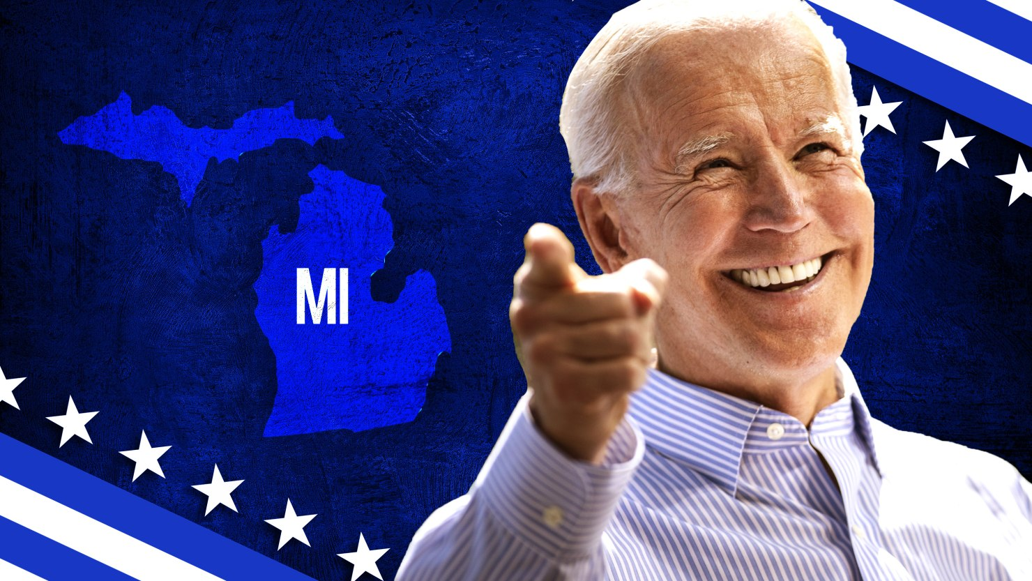Biden Flips Michigan Blue