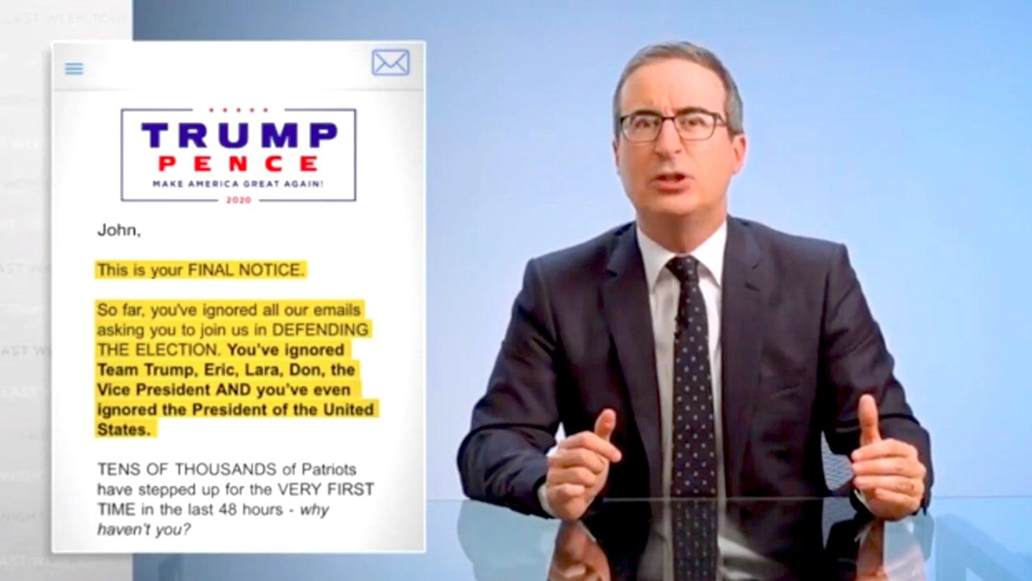 John Oliver Exposes Trump's Big Election-Challenge Scam