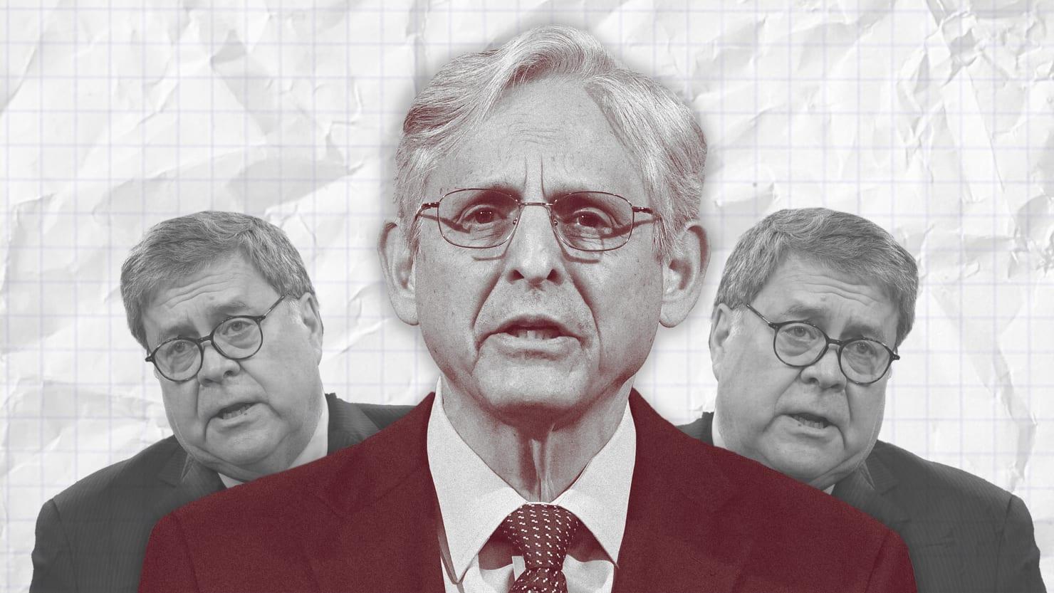 Bill Barr's Still Making a Mockery of Justice. Merrick Garland's Letting Him.
