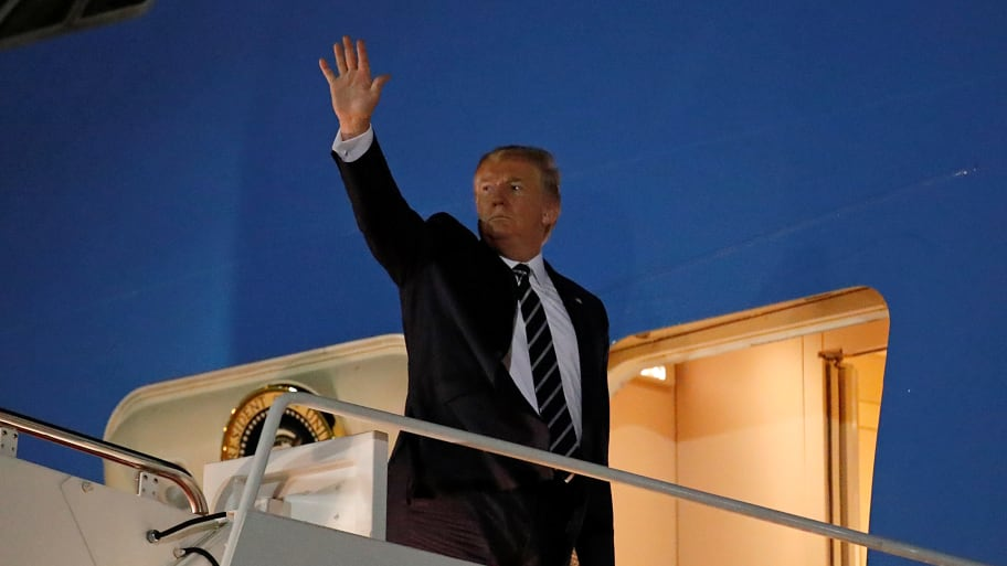 Donald Trump Arrives at G7 Summit in France he Doesn't Want to Attend