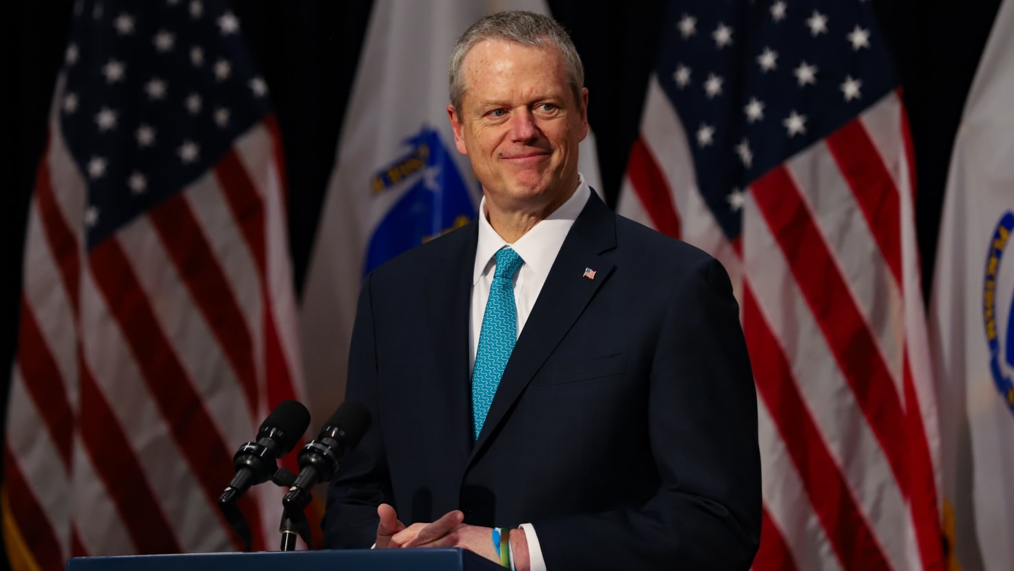 Republican Gov. Charlie Baker Chokes Up While Excoriating Trump's Call to 'Dominate' Protesters