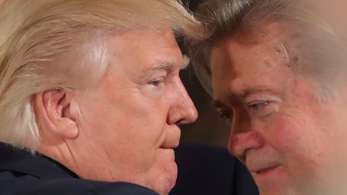 Bannon: Trump Will Fall When People Realize He's 'Just Another Scumbag'