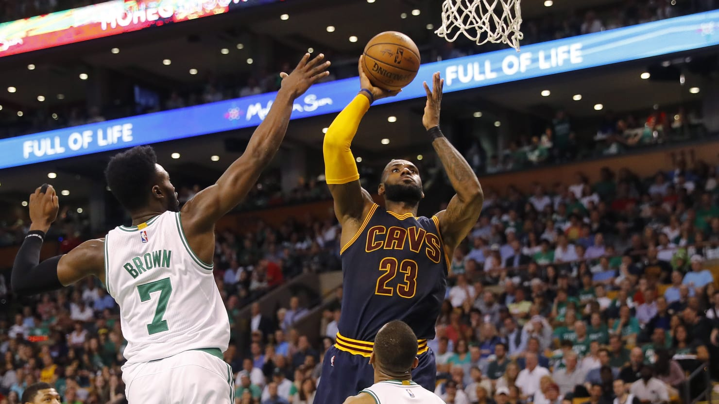 The Cleveland Cavaliers Face Off Against The Boston Celtics In Game  Of The Eastern Conference Finals