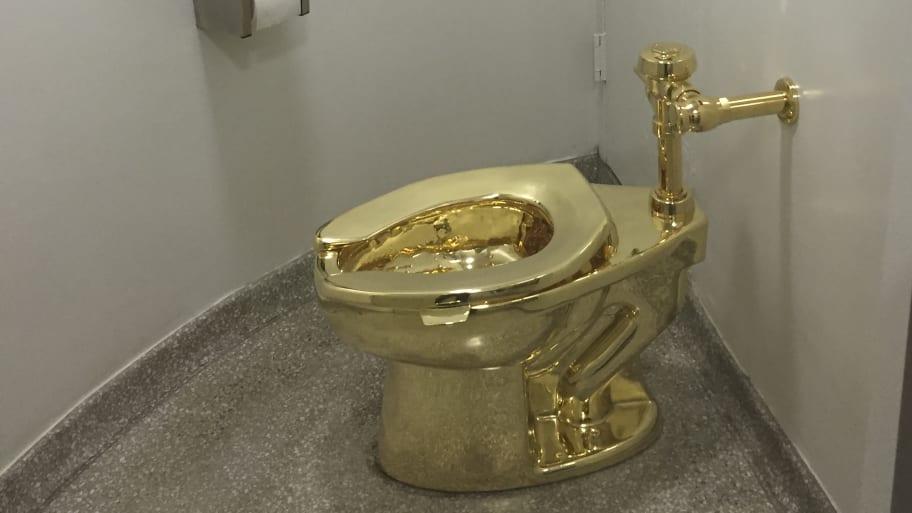 Gold Toilet Stolen from Winston Churchill's Birth Home